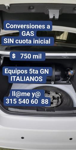 centro de conversión a gas vehicular $ 750 mil credito facil