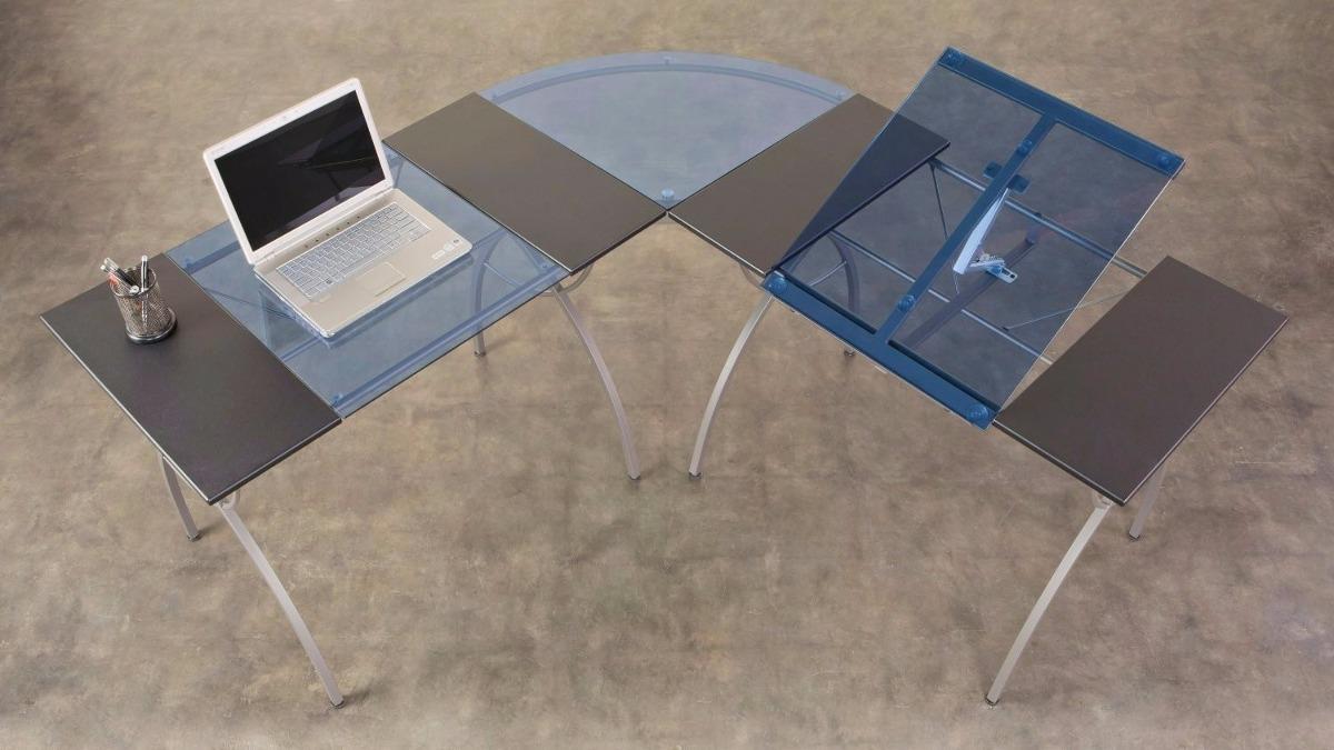 Centro de dibujo escritorio restirador mesa de luz en l for Mesas de dibujo baratas