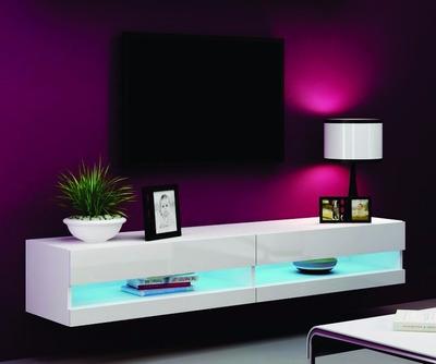 centro de entretenimiento flotante con iluminación led