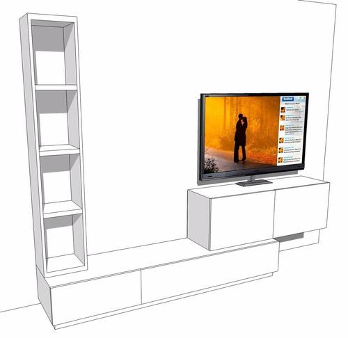 centro de entretenimiento levis mueble tv en madera lacada