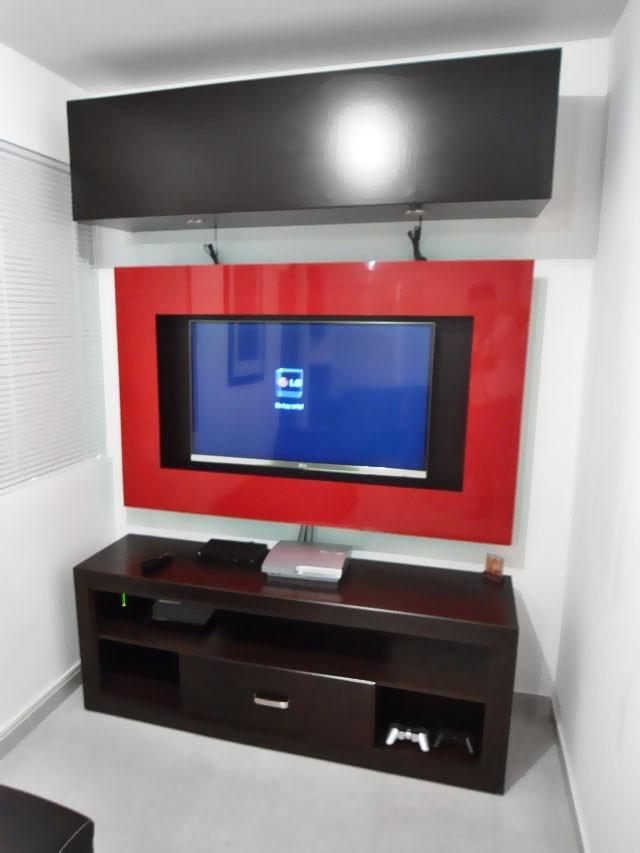 Sala tv minimalista id ias interessantes para o design do quarto - Muebles para tv minimalistas ...
