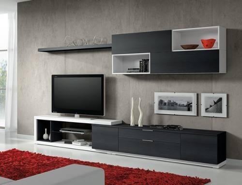 Centro de entretenimiento mueble para tv con instalacion for Centro mueble