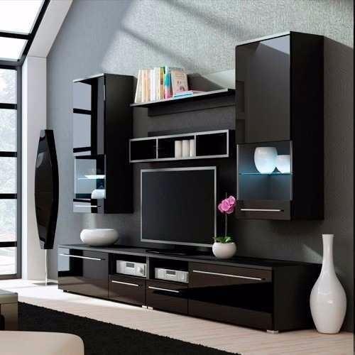 Centro de entretenimiento mueble para tv minimalista bs for Mueble de entretenimiento