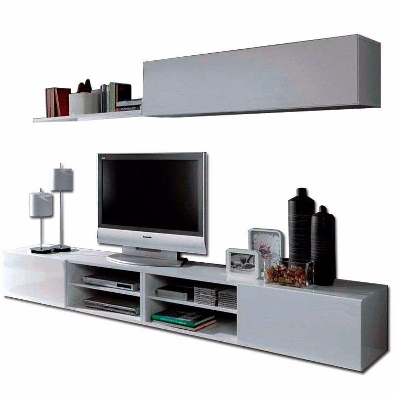 Centro de entretenimiento mueble para tv minimalista bs for Muebles de sala de entretenimiento