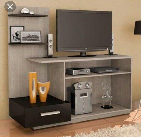 Centro de entretenimiento mueble tv elegante moderno for Mueble de entretenimiento para sala