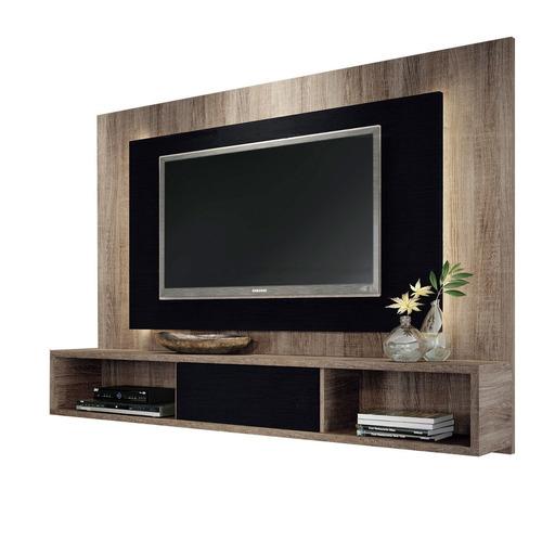Centro de entretenimiento panel de tv con repisa for Mueble de 5 repisas