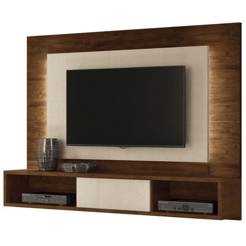 centro de entretenimiento - panel de tv con repisas