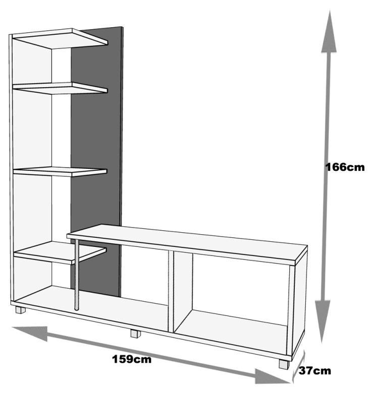 Centro de entretenimiento para multimedia y tv env o for Dimensiones de mobiliario