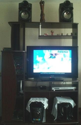 Centro de entretenimiento para televisor y equipo de sonido   s ...