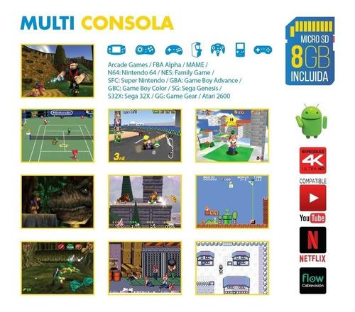 centro de entretenimiento smart tv x-view + consola juego droid box multi emuladora
