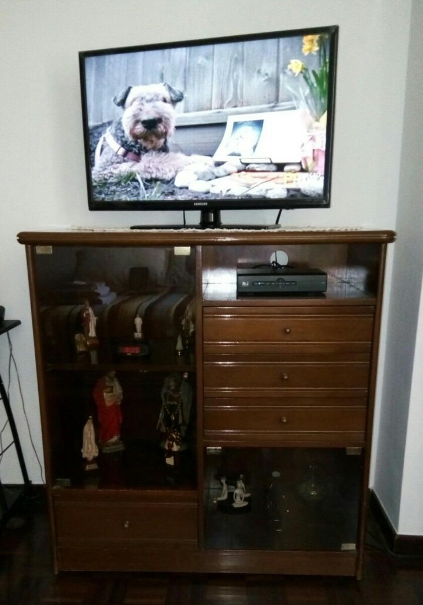 Centro de entretenimiento tv madera caoba mueble sala for Mueble de sala en madera