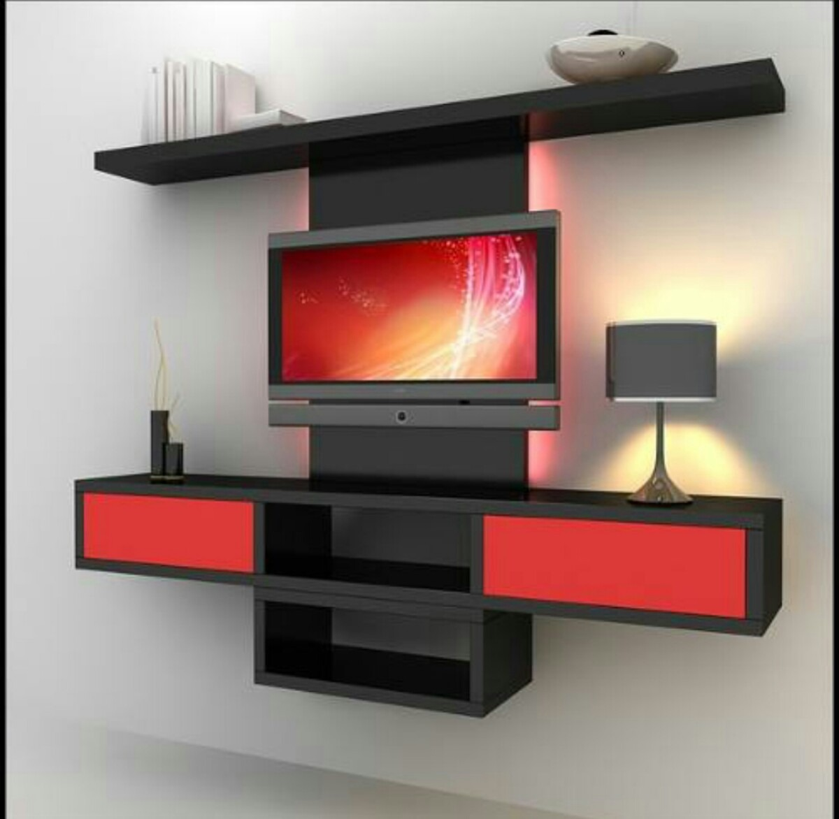Centro de entretenimiento tv mdf modernos bs 35 00 en - Modern showcase designs for living room ...
