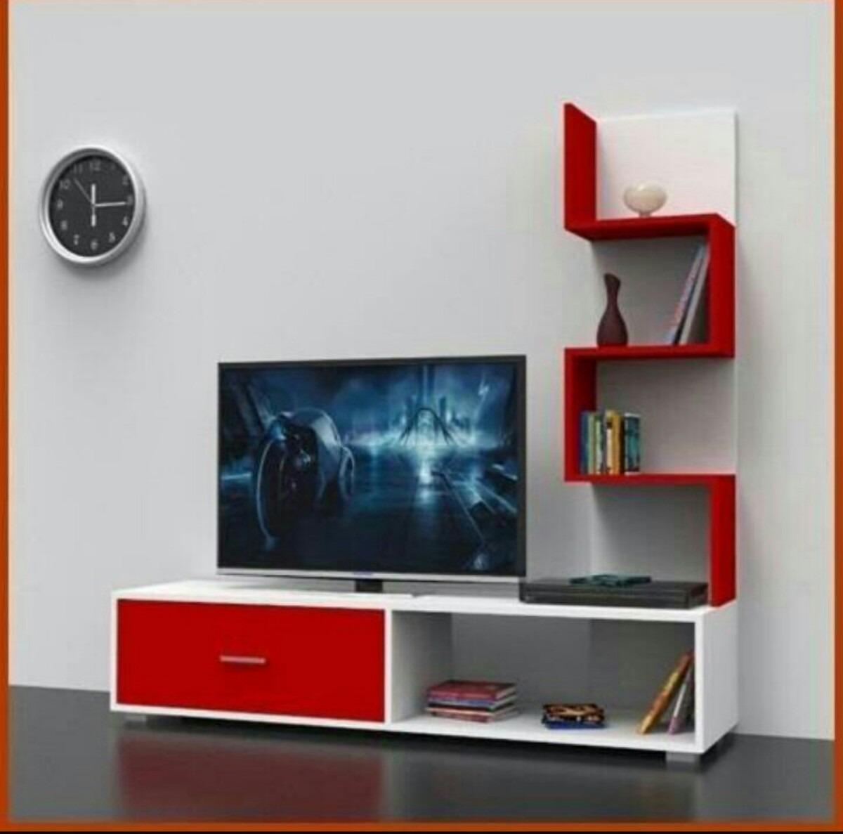 Centro de entretenimiento tv mdf modernos bs for Modelos de muebles para tv modernos