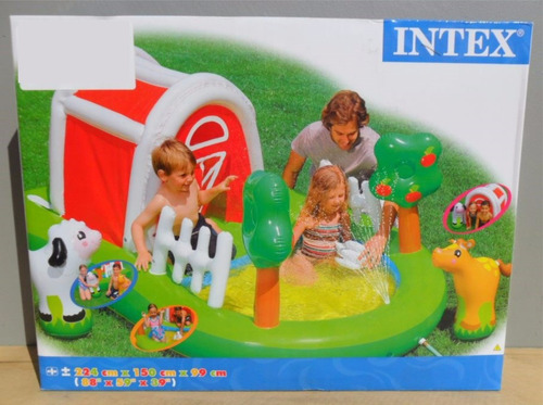 centro de juegos intex granja chorro de agua inflable