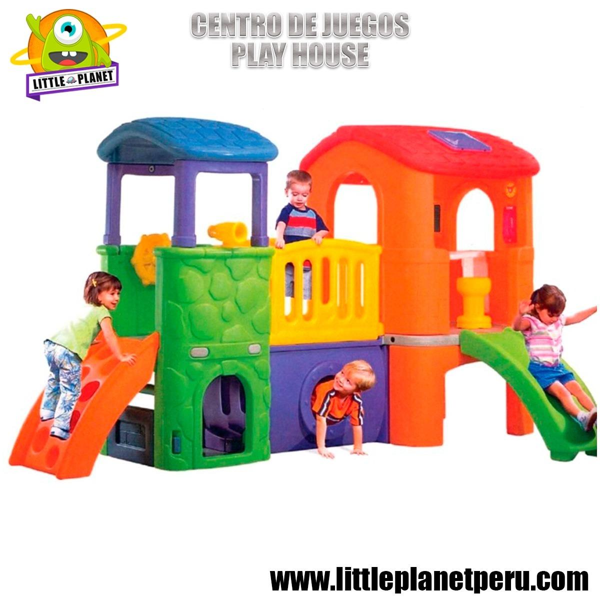 Centro De Juegos Para Ninos Play House Con Resbaladera Tunel S