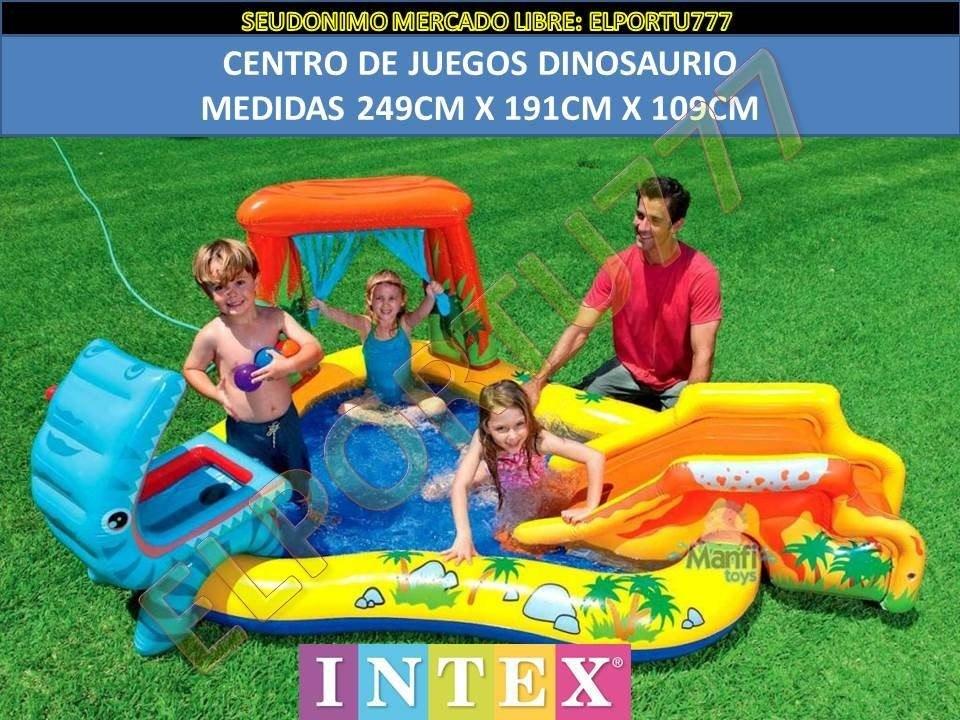 Centro de juegos piscina inflable de dinosaurios intex for Piscina inflable intex