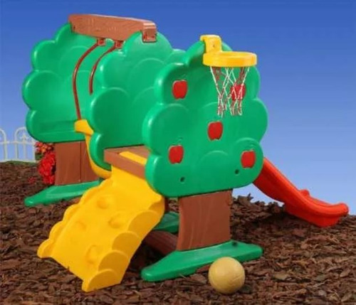 centro de juegos placita manzanos rotoys tobogan hamaca aro