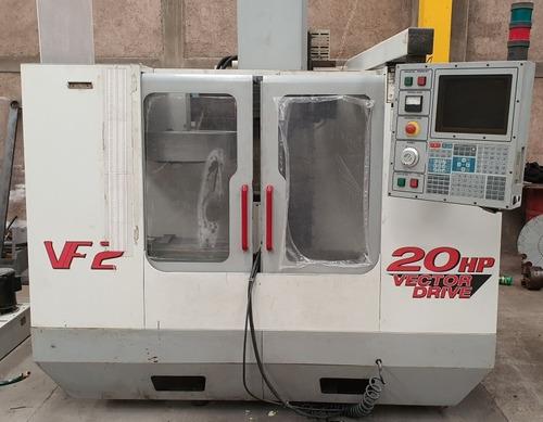 centro de maquinado haas vf2 con 4 eje