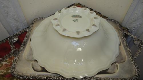 centro de mesa aleman rosenthal rococo antiguo con pie vealo