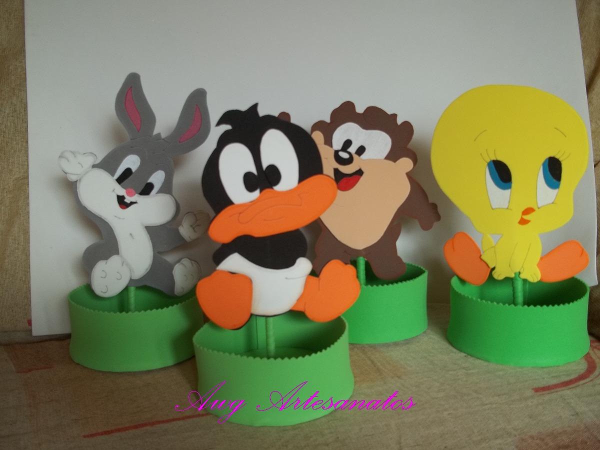 Centro de mesa baby looney tunes eva r 7 50 em mercado - Bebe looney tunes ...