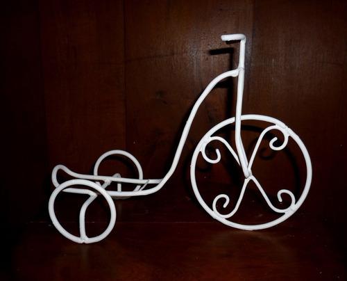 centro de mesa bicicleta  artesanal vintage (metal)