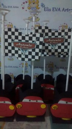 centro de mesa carros disney kit c/30 unidades promoção