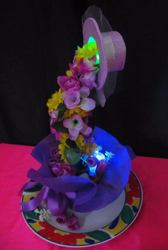centro de mesa cascada de flores