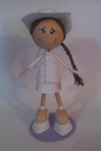 centro de mesa comunion bautizo personalizad muñeca fofucha