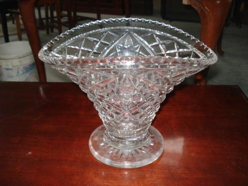centro de mesa cristal bohemia talla  antiguedades el rodeo