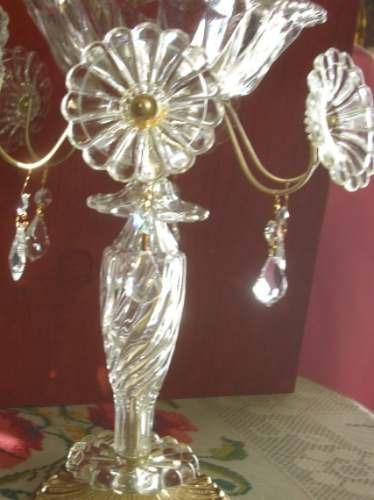 Centro de mesa cristal fino metal dorado 3 en - Mesas de centro de cristal baratas ...