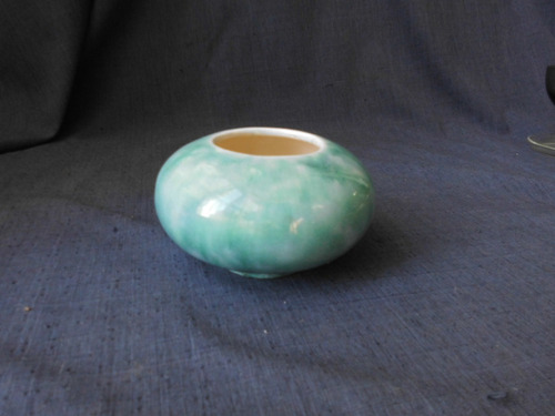 centro de mesa  de ceramica esmaltada