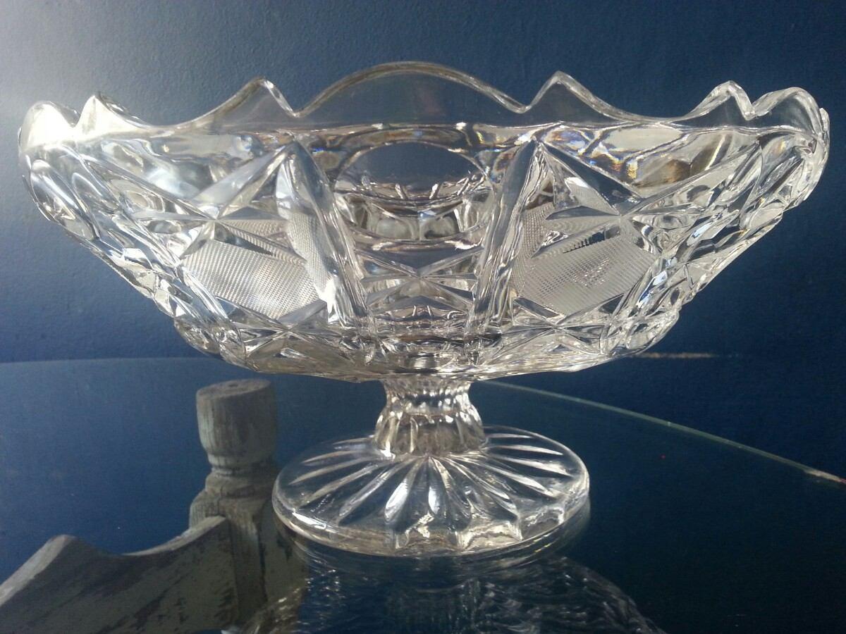 Centro de mesa de cristal cortado 1 en mercado for Centro de mesa de cristal