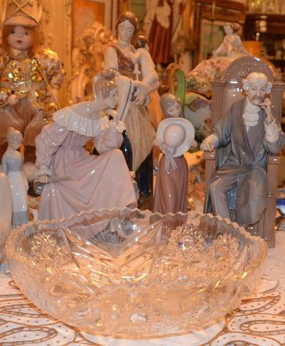 centro de mesa de cristal de bohemia.