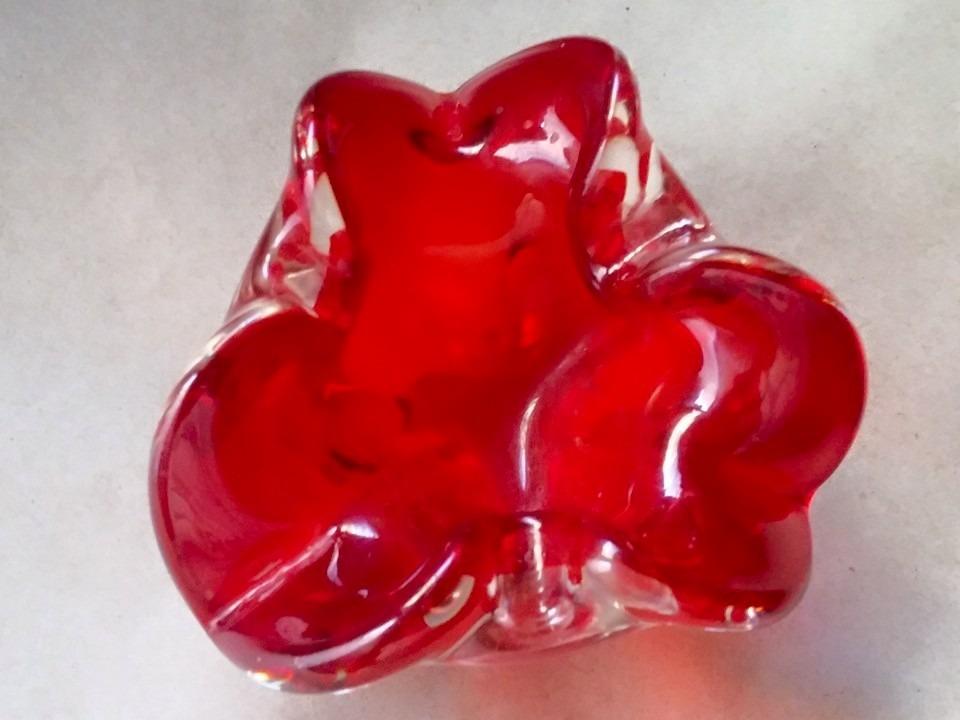 centro de mesa de murano pequeño de color rojo gratis envio