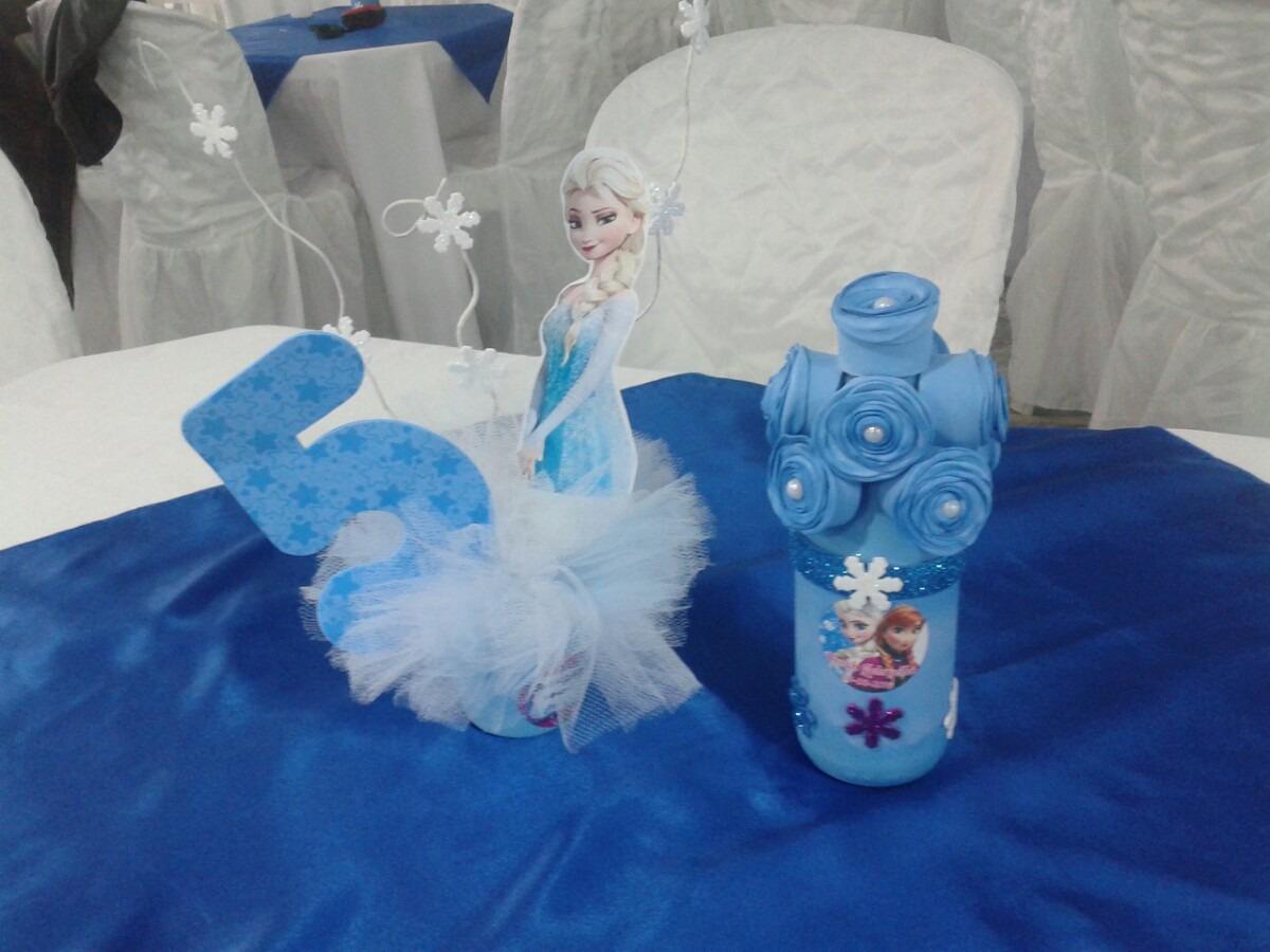 Centro de mesa de tule frozen r 150 00 em mercado livre for Centros de mesa de frozen