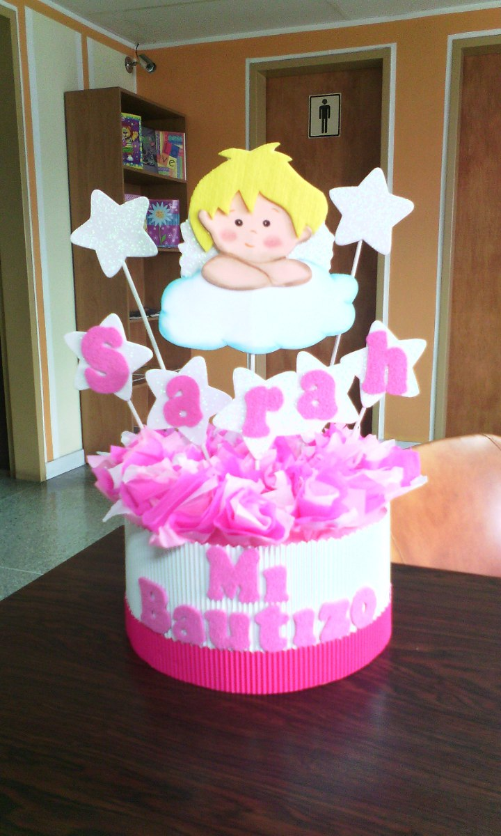 Centro de mesa decoracion baby shower bautizo - Decoracion de mesa de bautizo ...