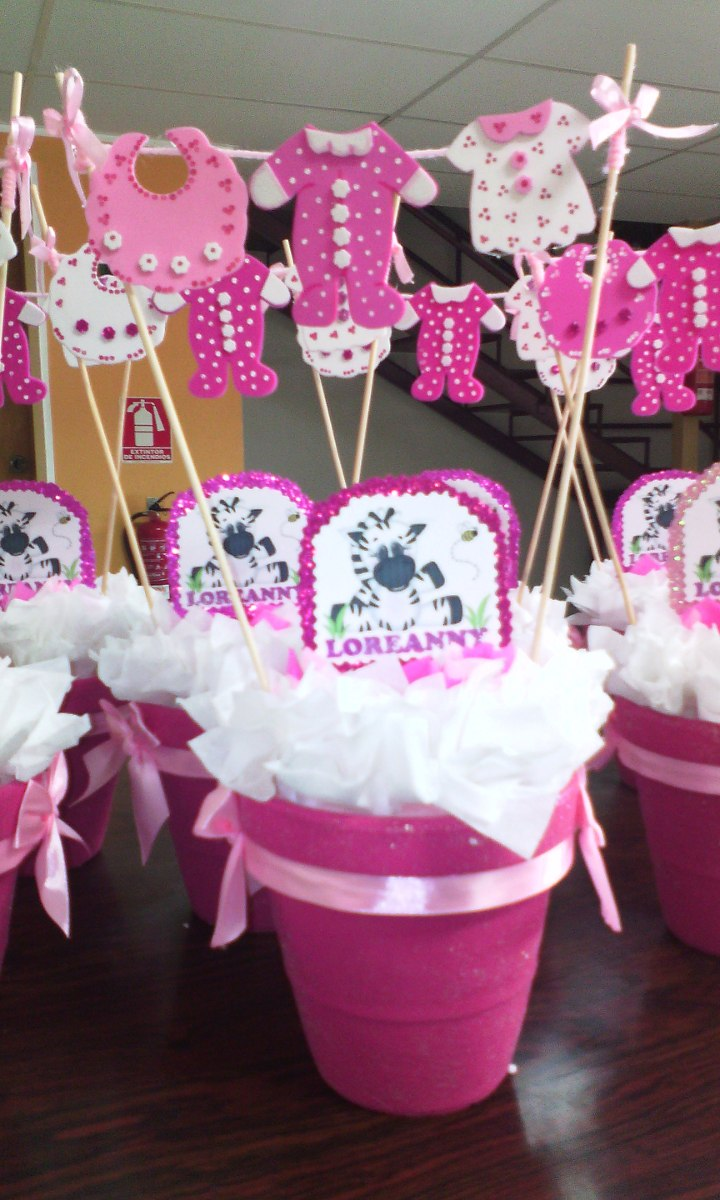 Centro de mesa decoracion baby shower bautizo for Centro de mesa baby shower