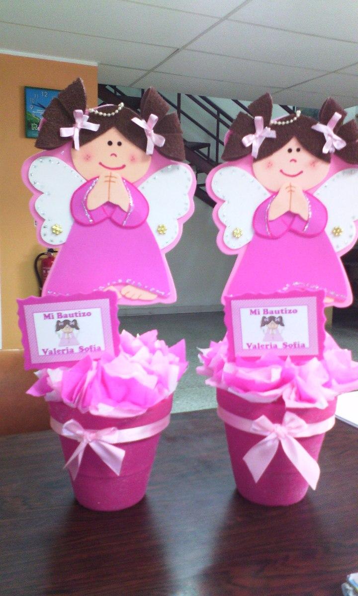 Centro de mesa decoracion baby shower bautizo for Decoracion de mesa para bautizo