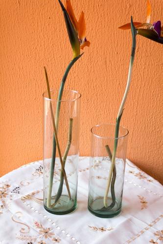 centro de mesa florero de vidrio 35cmx10cm, boda, decoración