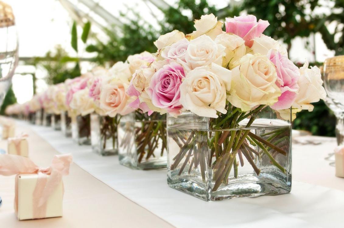 Centro De Mesa Flores Naturales Casamiento 15 Anos Bautismo