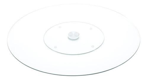 centro de mesa giratório de vidro temperado 45cm