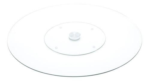 centro de mesa giratório de vidro temperado 60cm