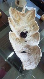 centro de mesa hoja en onix y marmol