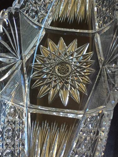 centro de mesa jardinera - cristal tallado imponente