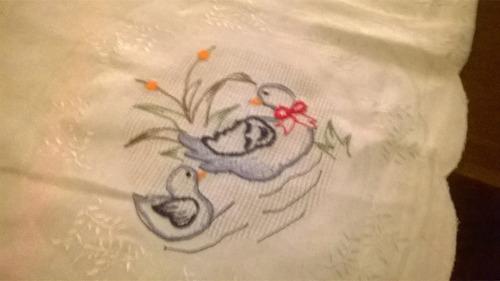centro de mesa- mantel pequeño- 100% algodón