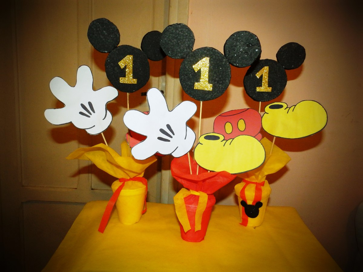 Centro de mesa mickey mouse tattoo design bild - Centros de mesa para cumpleanos ...