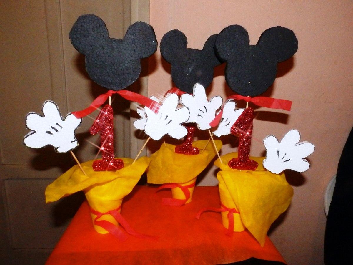 Centro de mesa mickey mouse cumplea os 85 00 en for Mesa de cumpleanos de mickey