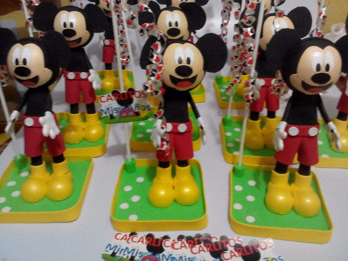 Centro de mesa mickey mouse fiestas infantiles recuerdos for Mesa de cumpleanos de mickey
