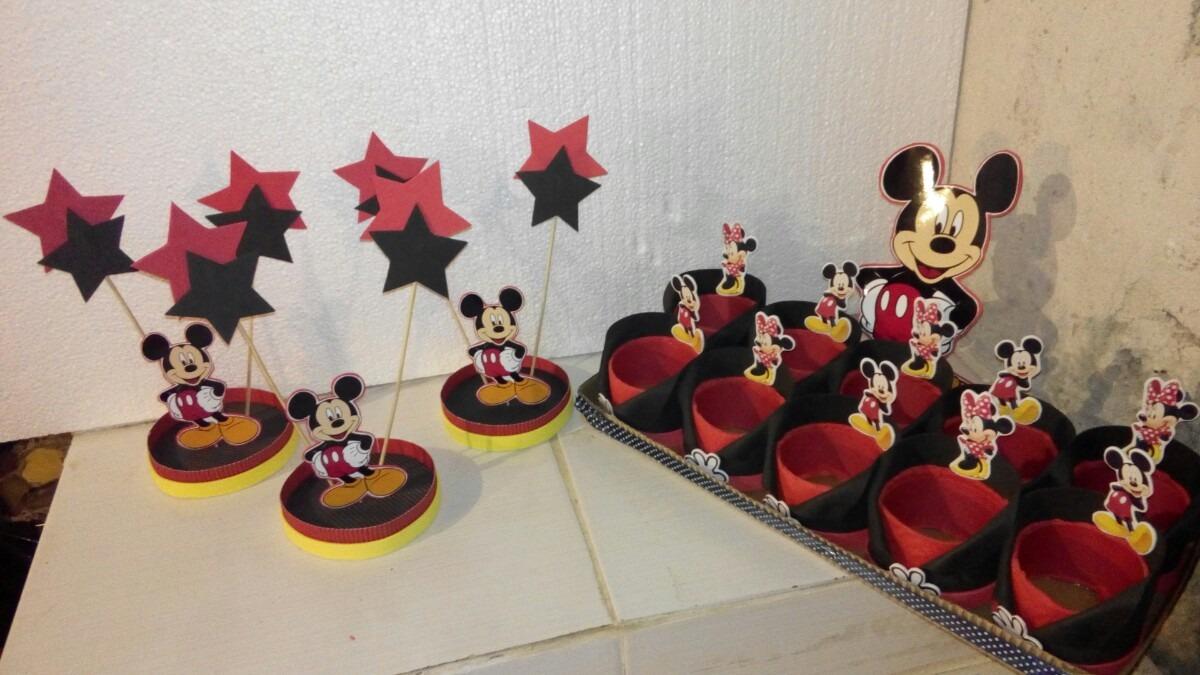 Centro De Mesa Mickey Mouse !!! Super Oferta - $ 50,00 en Mercado ...
