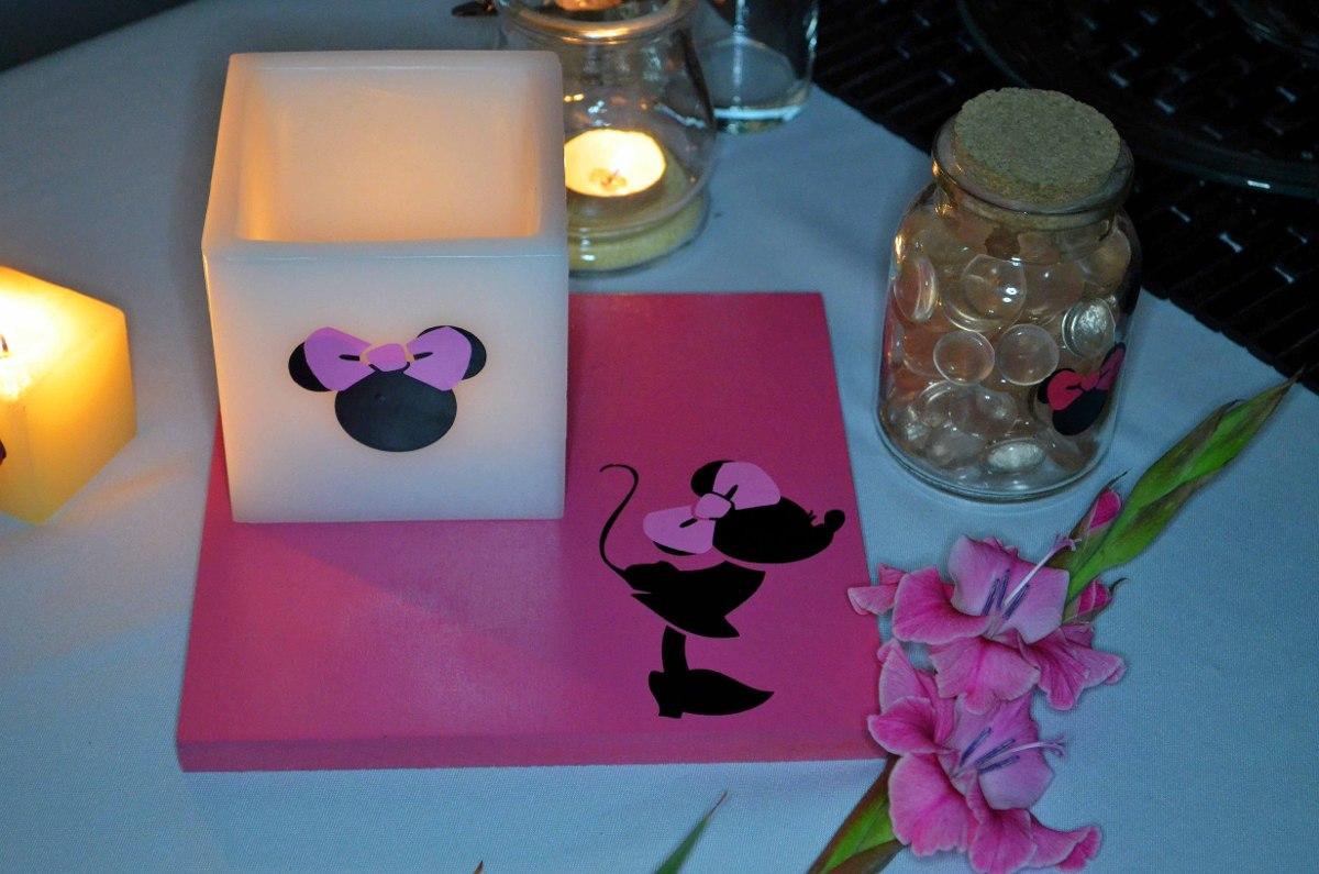 Centro de mesa minnie mouse fiusha 15 piezas aluzza - Velas de adorno ...